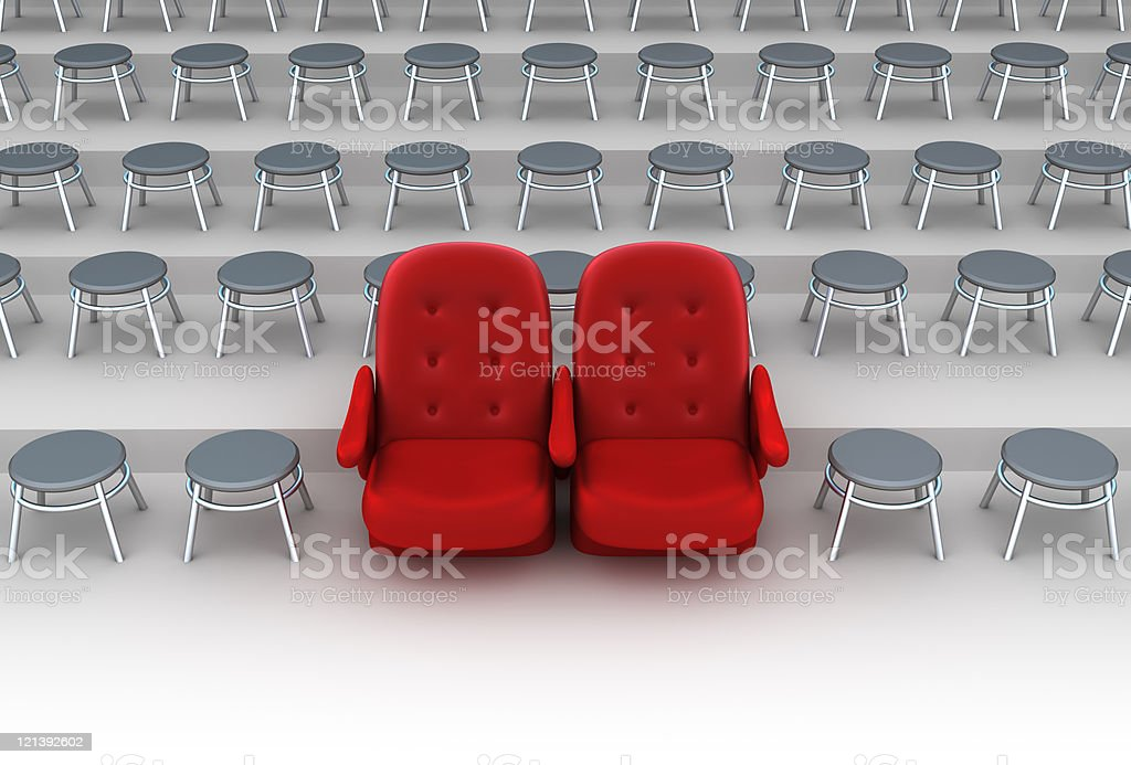 Vip seats concept royalty-free stock photo