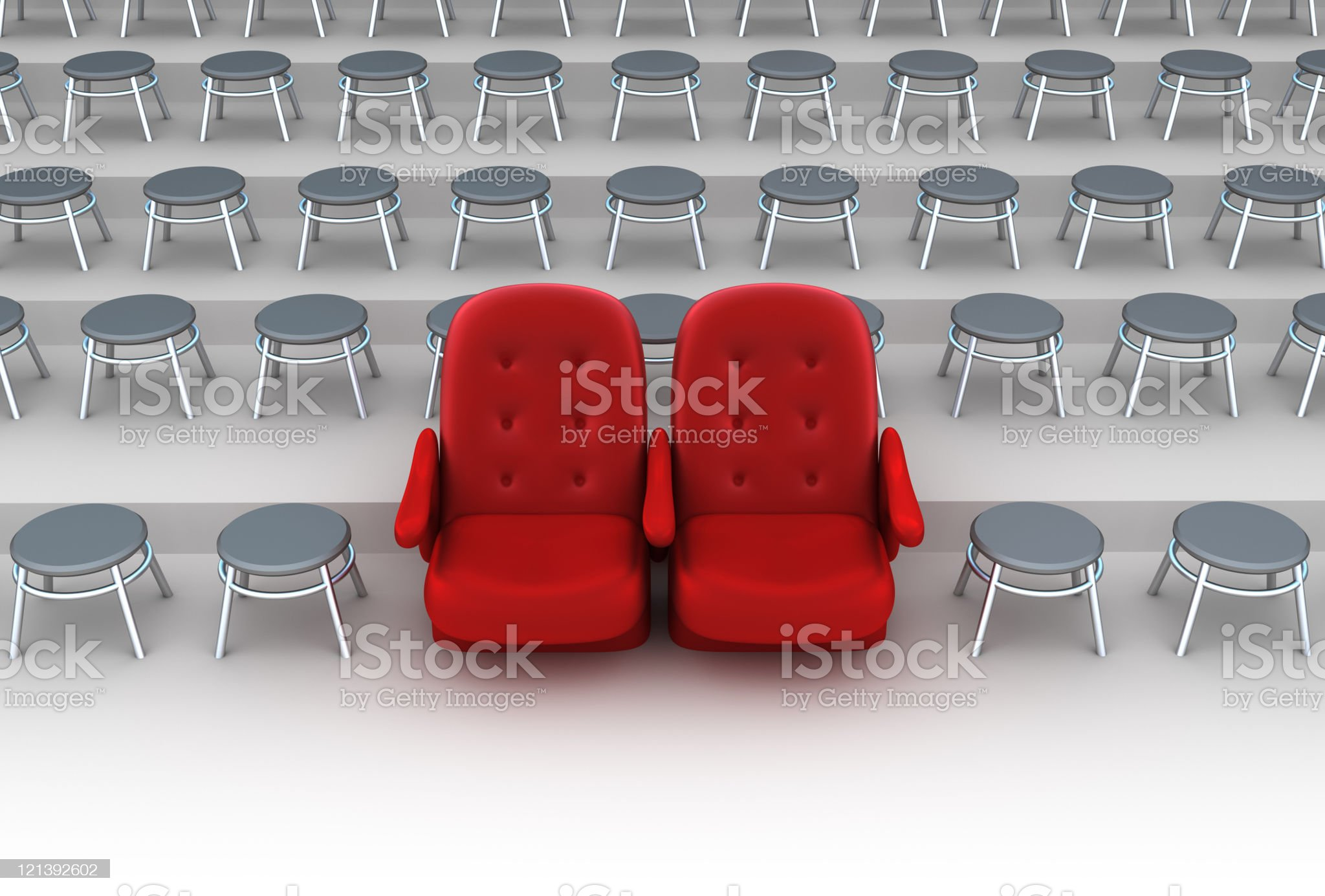 Vip seats concept royalty-free stock photo