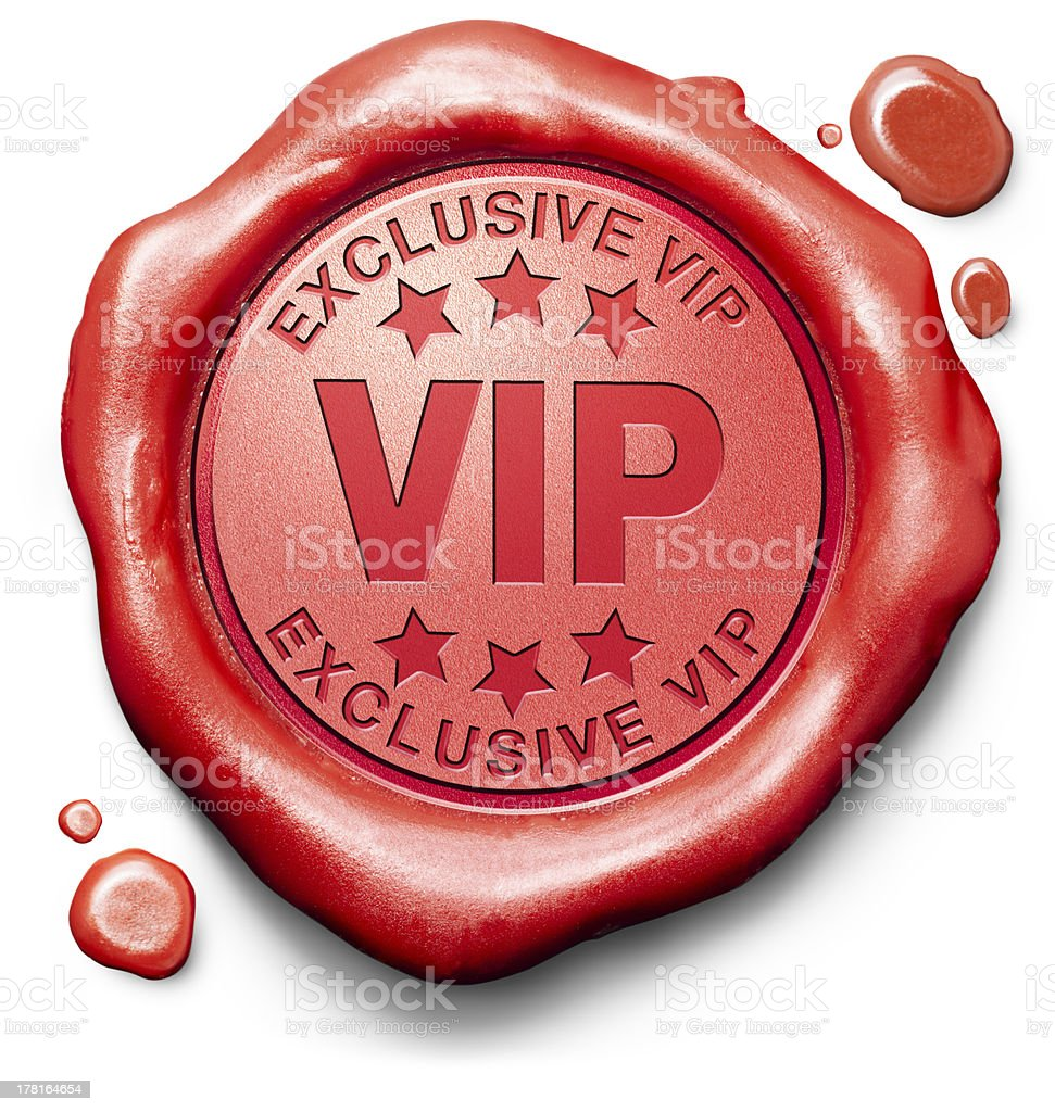 vip very important person stock photo