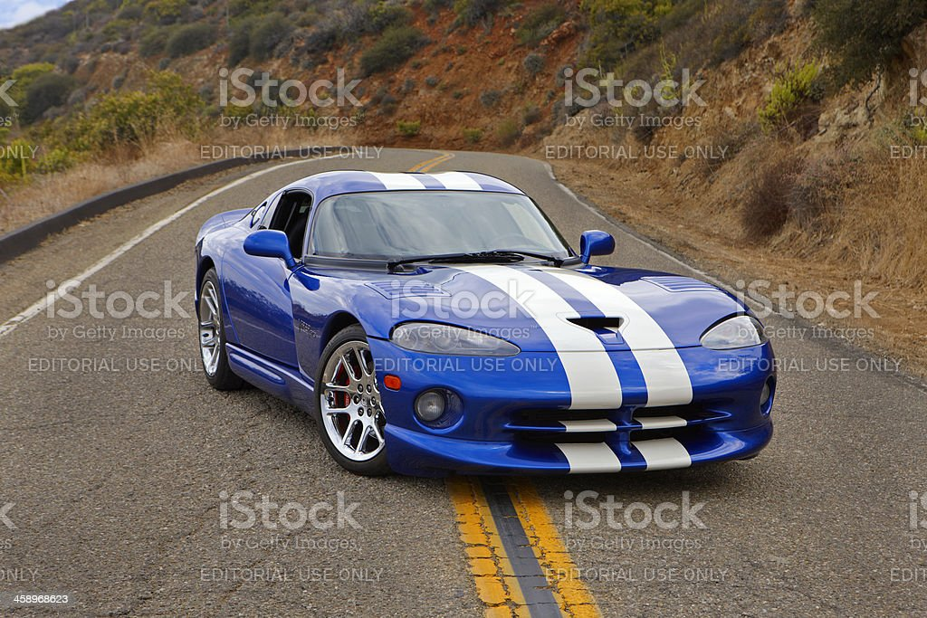 Viper GTS on the line stock photo