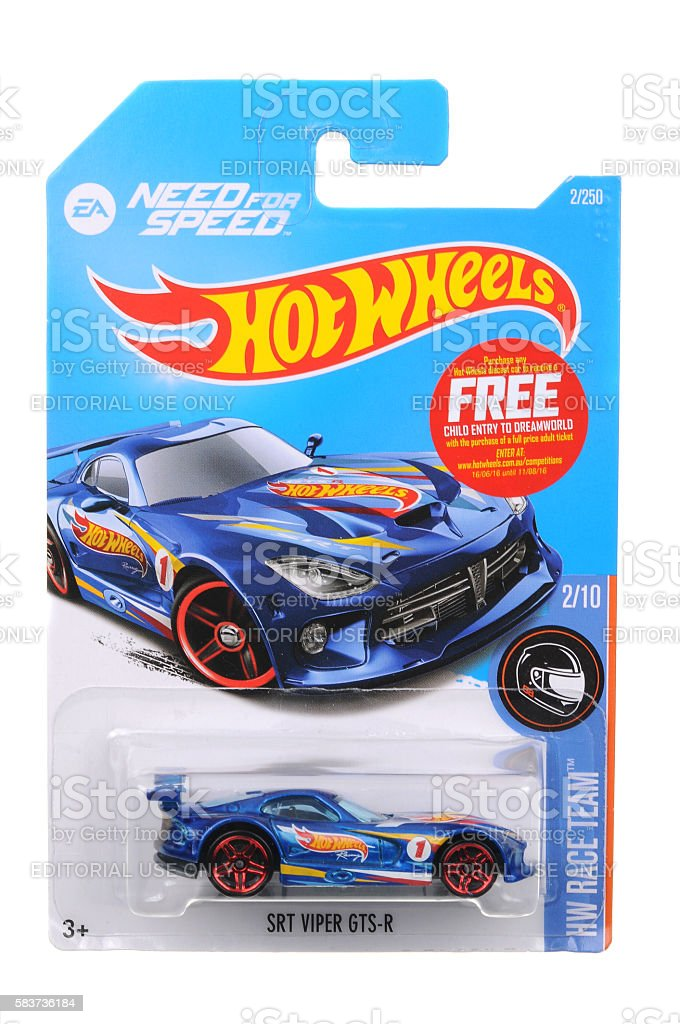 SRT Viper GTS-R Hot Wheels Diecast Toy Vehicle stock photo