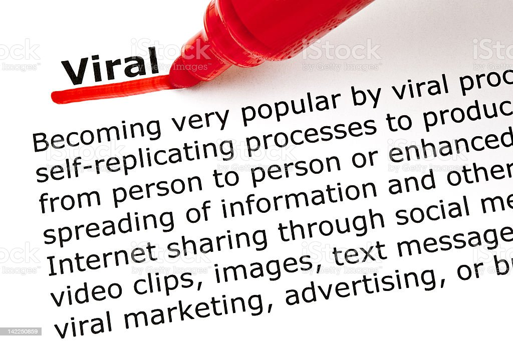 Viral underlined with red marker royalty-free stock photo