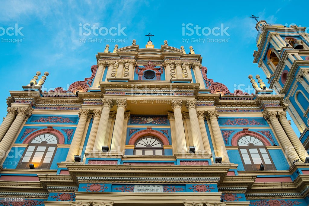 Virgen de la Candelaria church stock photo