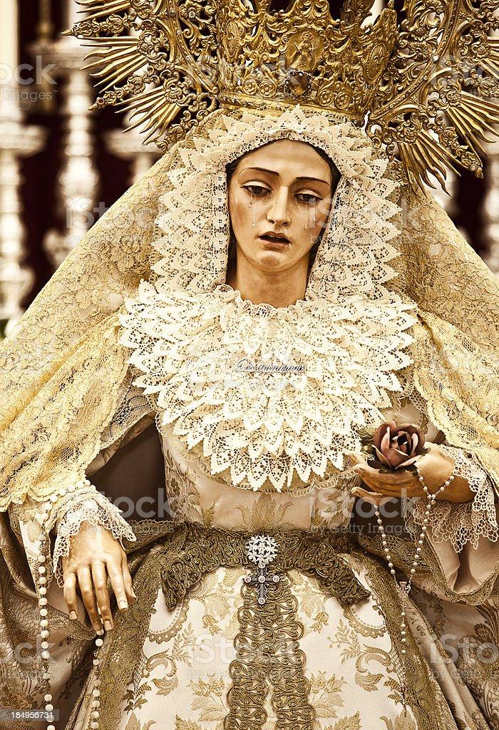 virgin at cadiz church royalty-free stock photo