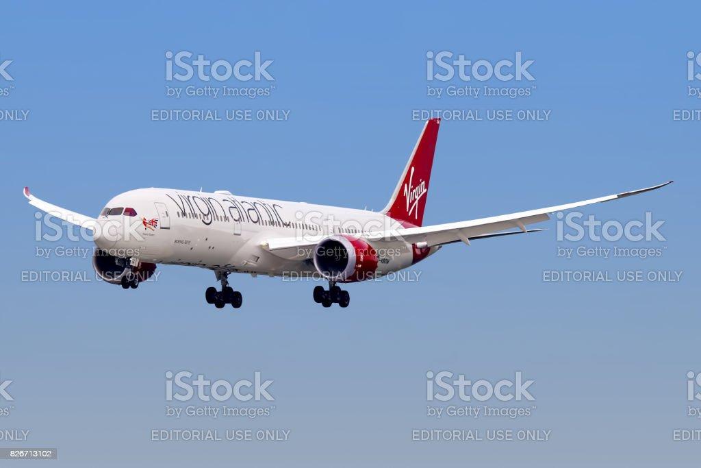 Virgin Atlantic Airways aircraft stock photo