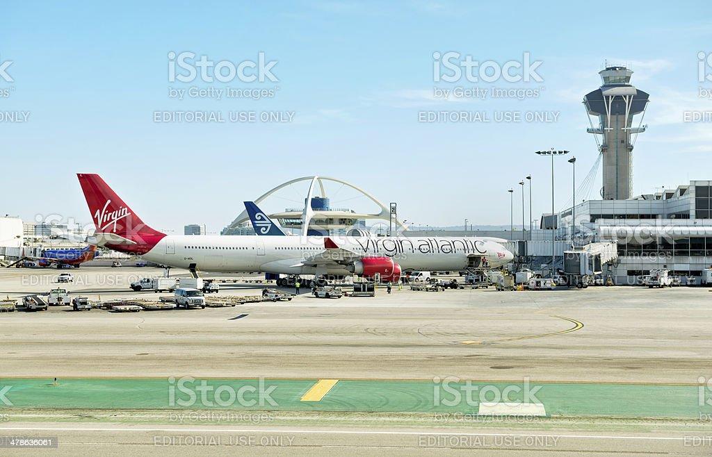 Virgin Atlantic Airways at Los Angeles Airport stock photo