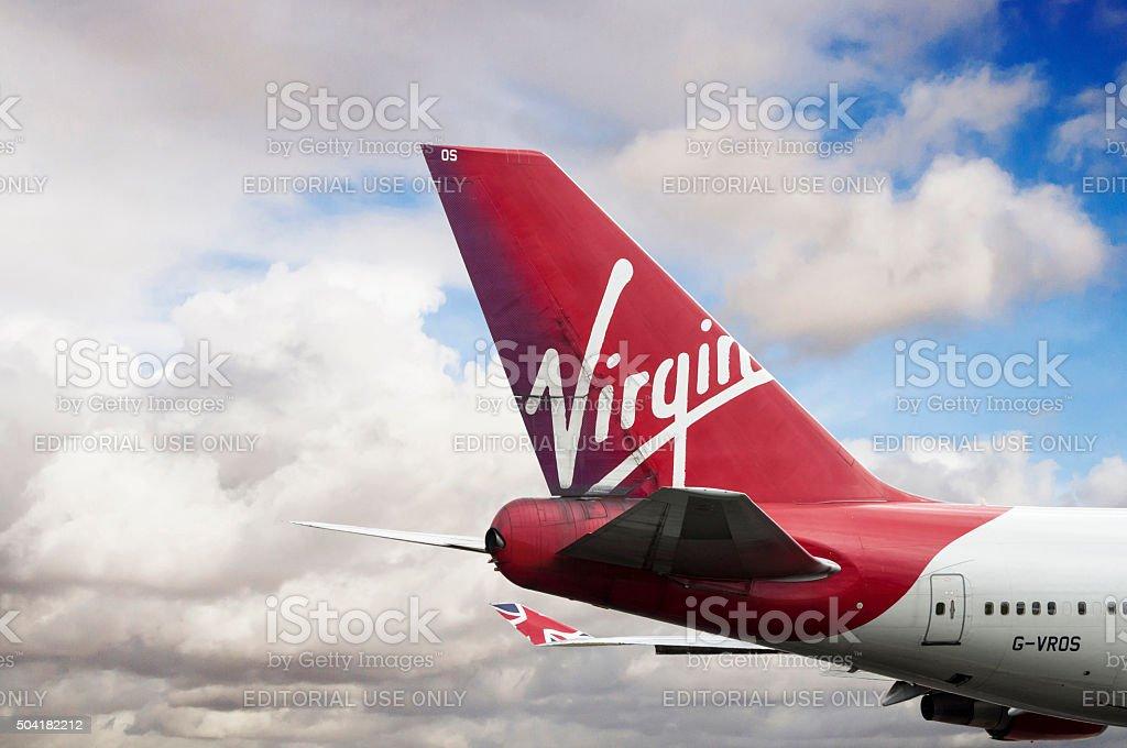 Virgin Atlantic Airways Boeing 747-443 cn 30885-1268 G-VROS. stock photo