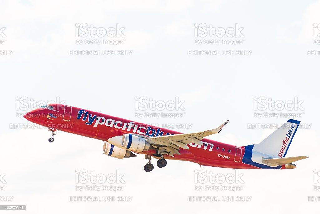 A Virgin Australia passageiro avião foto royalty-free
