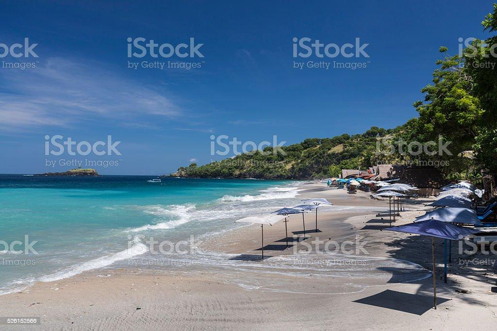 Virgin Beach in Karangasem province of Bali stock photo