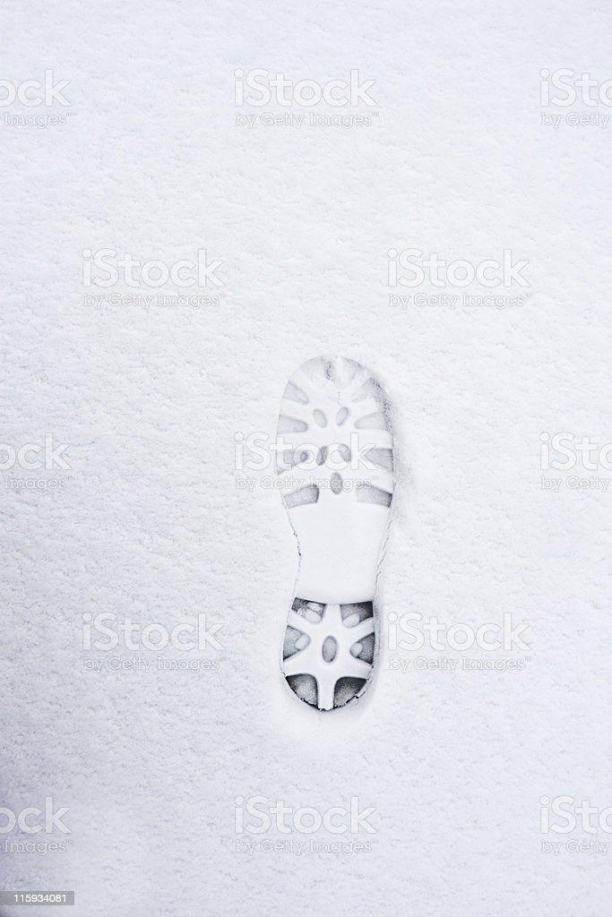 Virgin Footprint stock photo