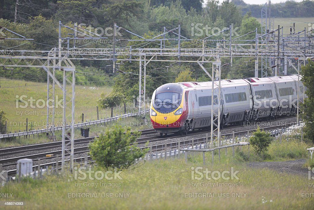 Virgin High Speed train royalty-free stock photo