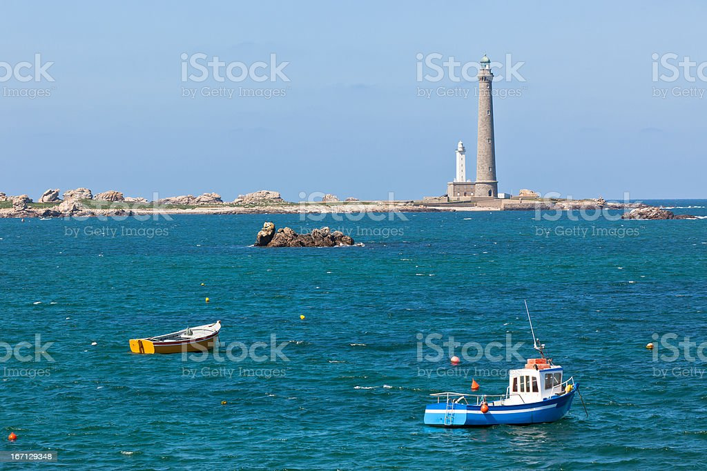 Phare de l'Ile Vierge - Lighthouse in Brittany royalty-free stock photo