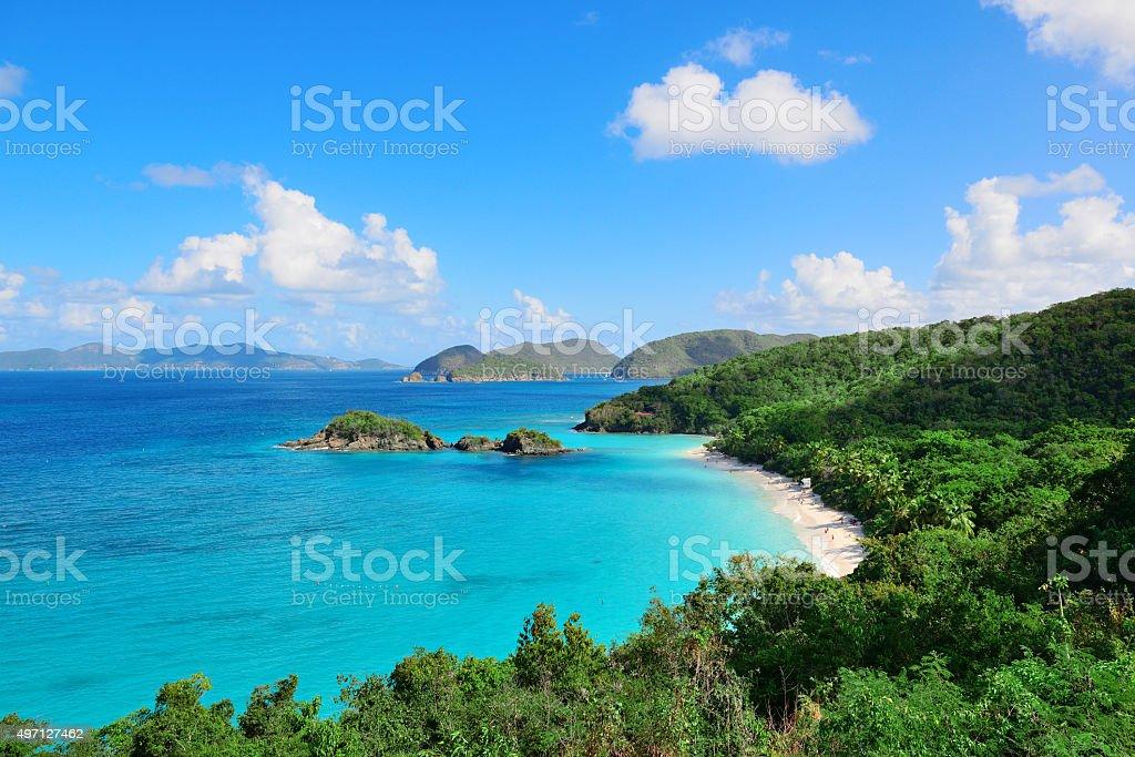 Virgin Islands Beach stock photo