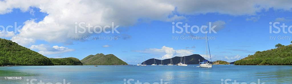 Virgin Islands boat stock photo