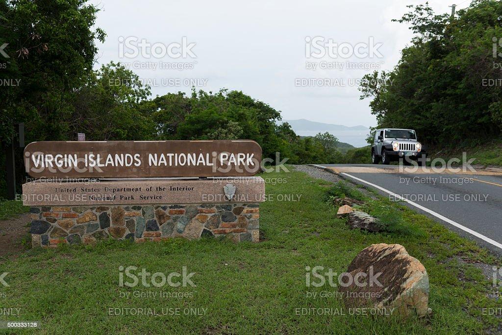 Virgin Islands National Park on St. John Island stock photo