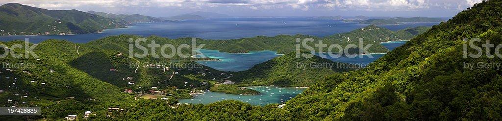 Virgin Islands panorama stock photo