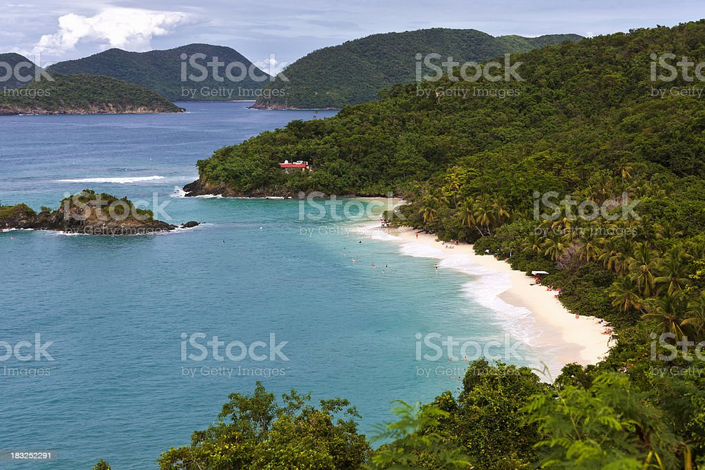 Virgin Islands Pristine Beach stock photo