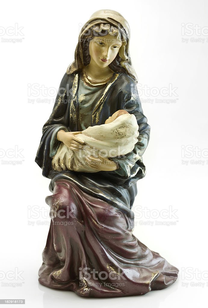 Virgin Mary and Baby Jesus royalty-free stock photo