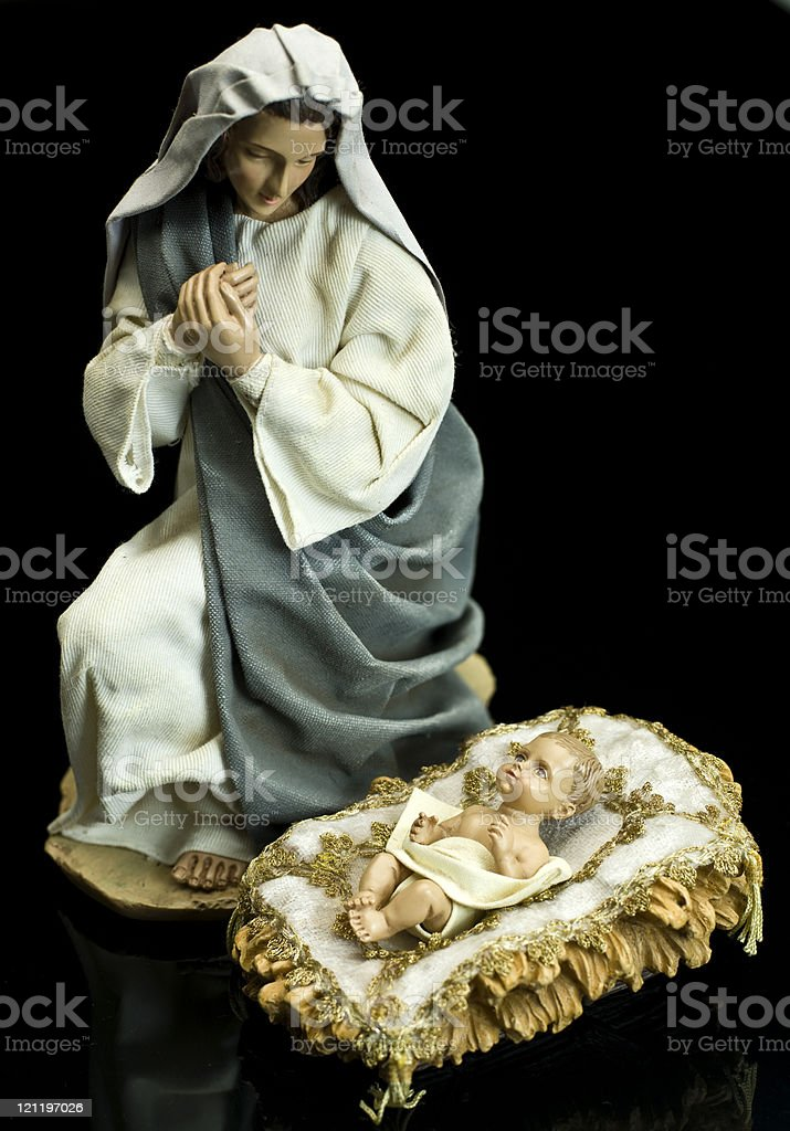 Virgin Mary and Jesus royalty-free stock photo