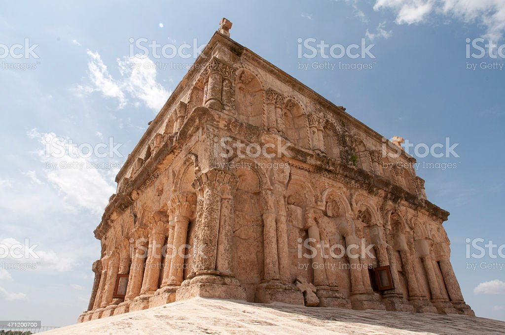 virgin mary church mardin stock photo