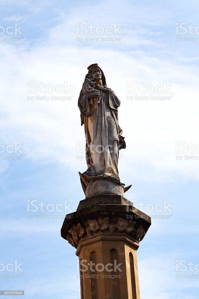 Virgin Mary column in Linz stock photo