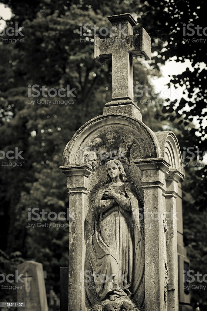 Virgin Mary in a niche royalty-free stock photo