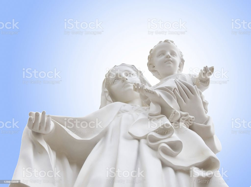 Virgin Mary mother of child Jesus stock photo