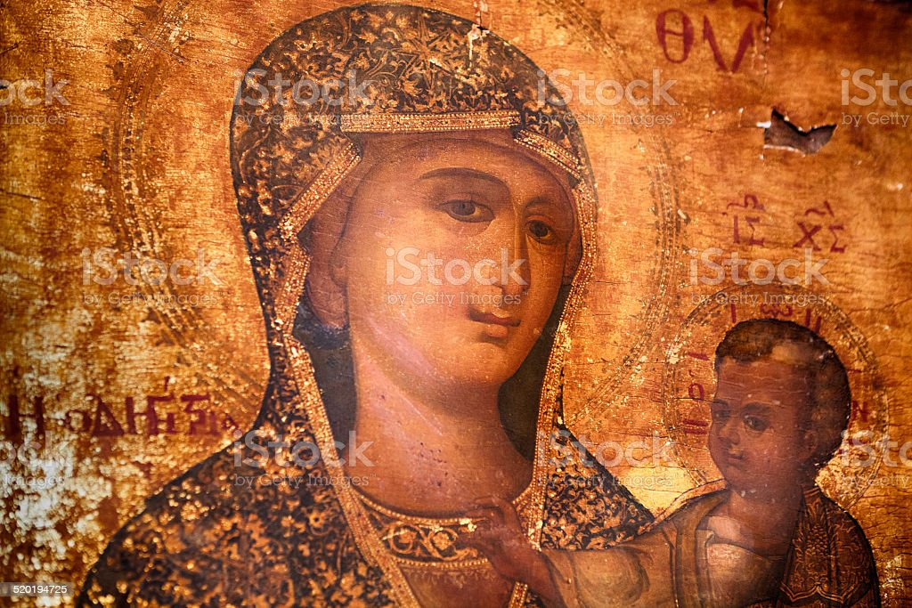 Virgin Mary stock photo