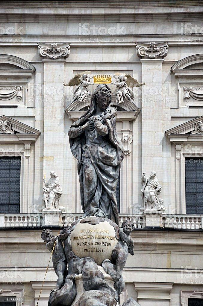 Virgin Mary, Salzburg stock photo