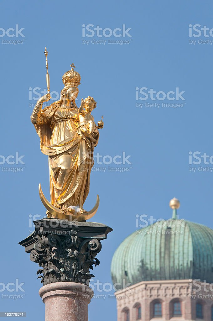 Virgin Mary Statue in Munich royalty-free stock photo