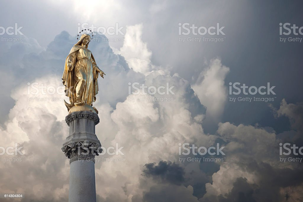Virgin Mary Statue stock photo