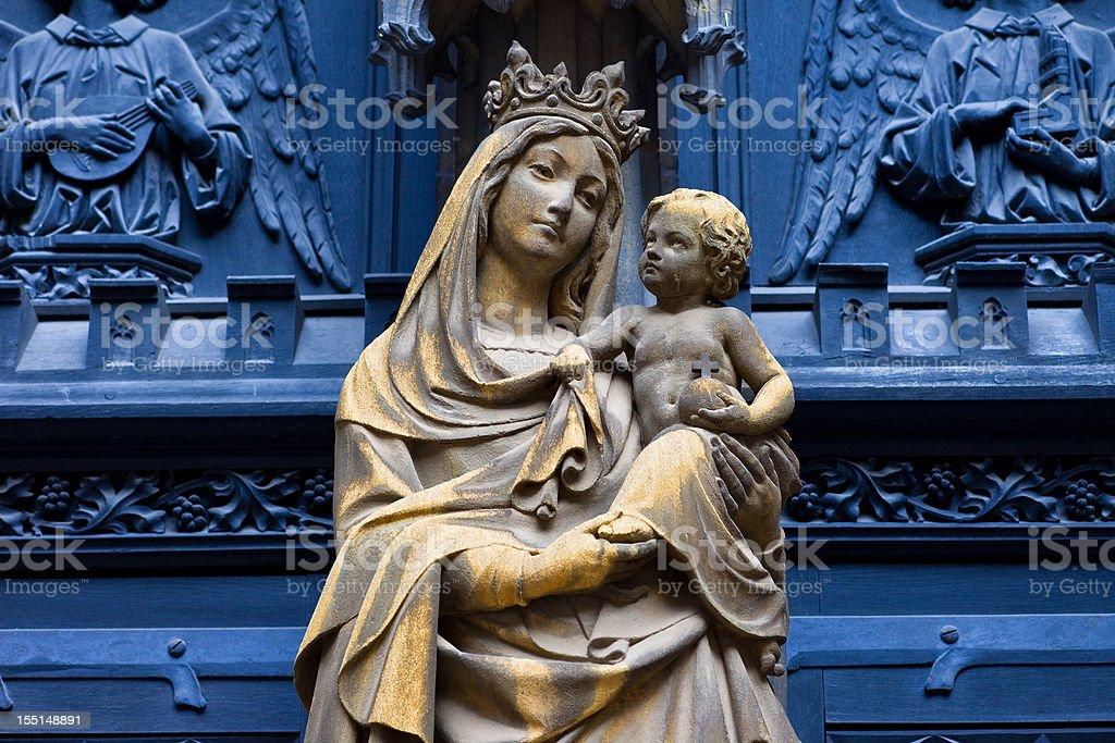 Virgin Mary with baby Jesus stock photo