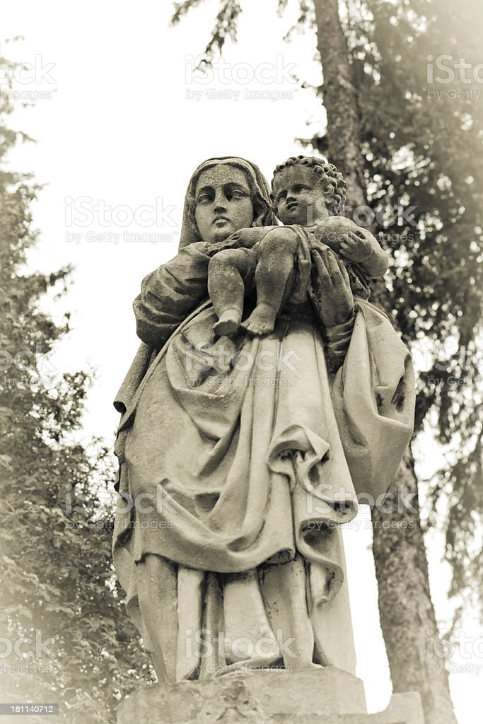 Virgin Mary with Jesus child royalty-free stock photo