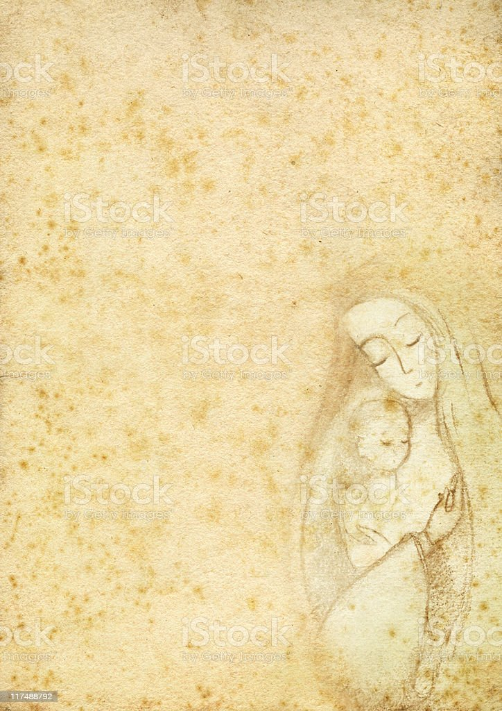 Virgin Mary with the Child stock photo