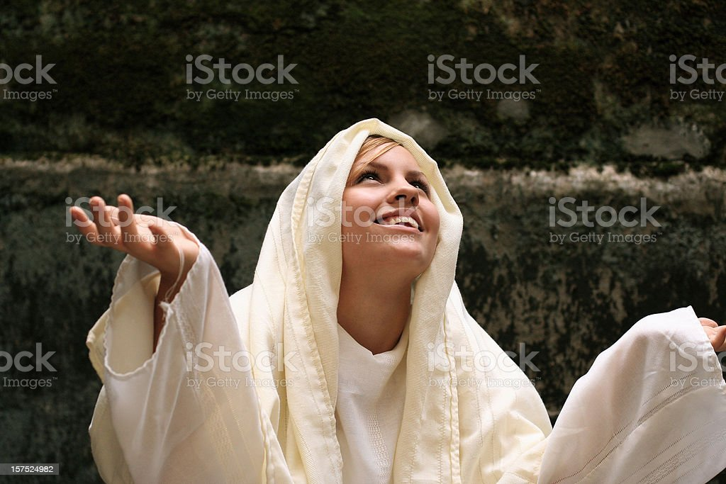 Virgin Mary Worshipping royalty-free stock photo