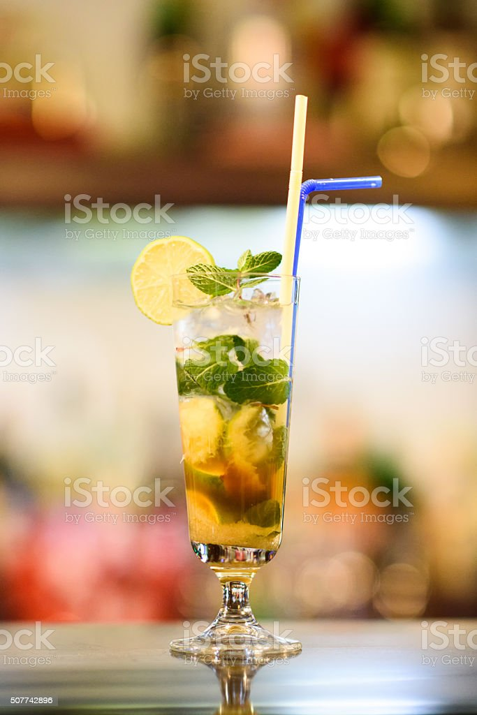 Virgin Mojito Cocktail stock photo