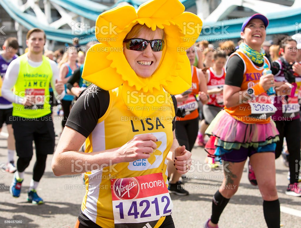 Virgin Money London Marathon, 24th April 2016. stock photo