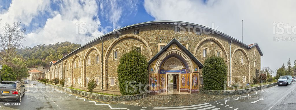 Virgin of Kykkos Holy Monastery in Troodos mountains, Cyprus stock photo