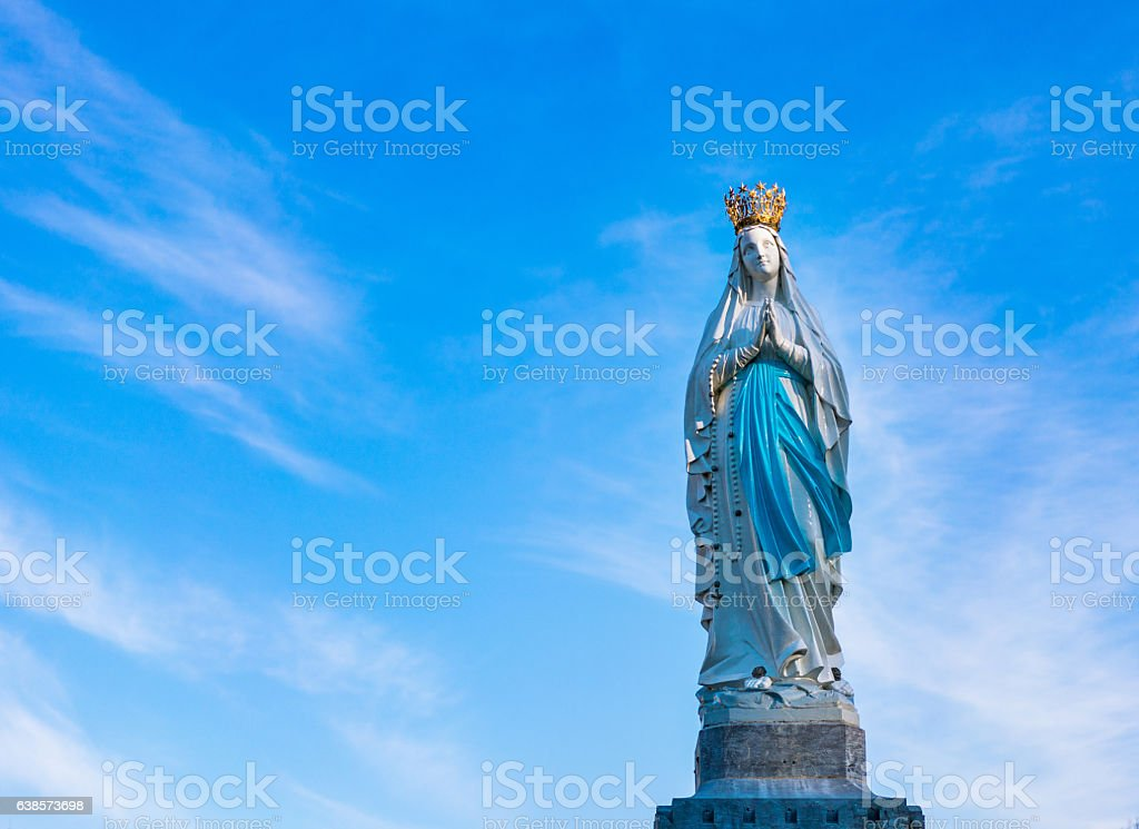 Virgin of Lourdes France stock photo