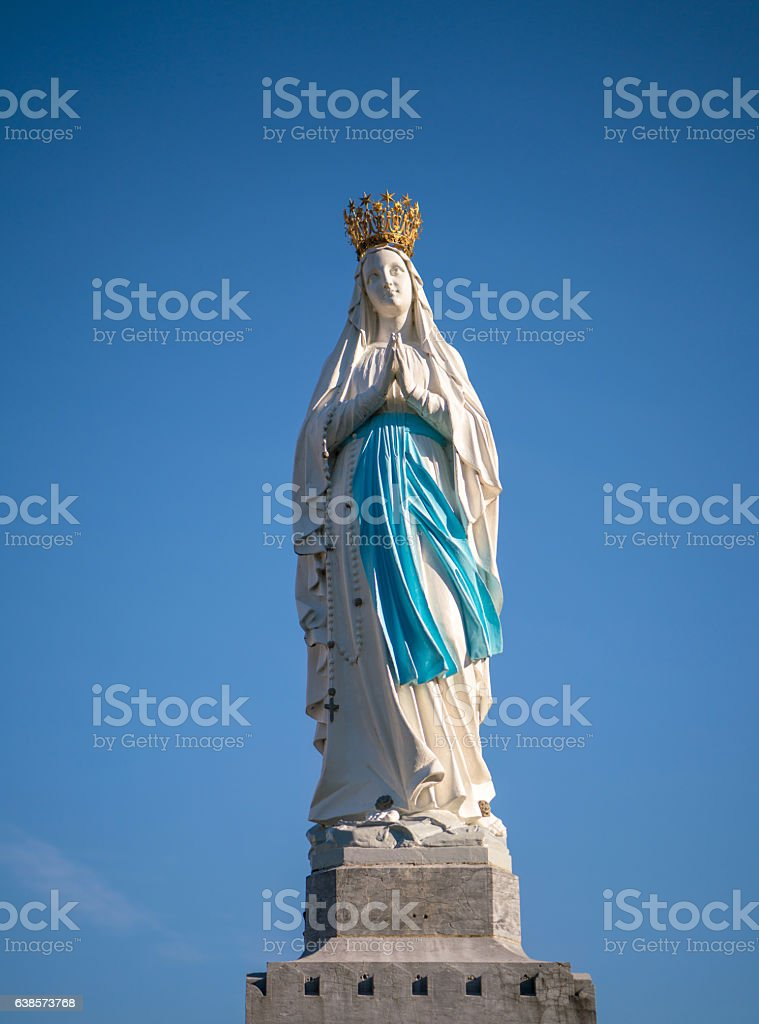 Virgin of Lourdes France stock photo