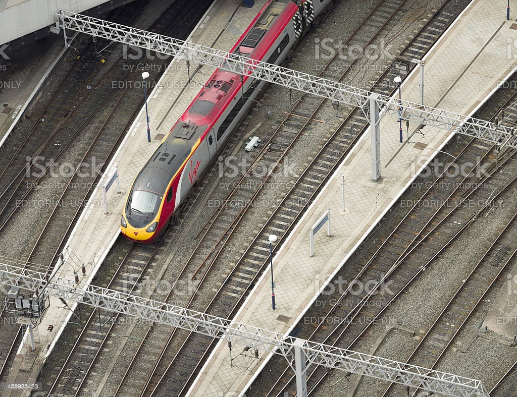 Virgin Train in a Station royalty-free stock photo