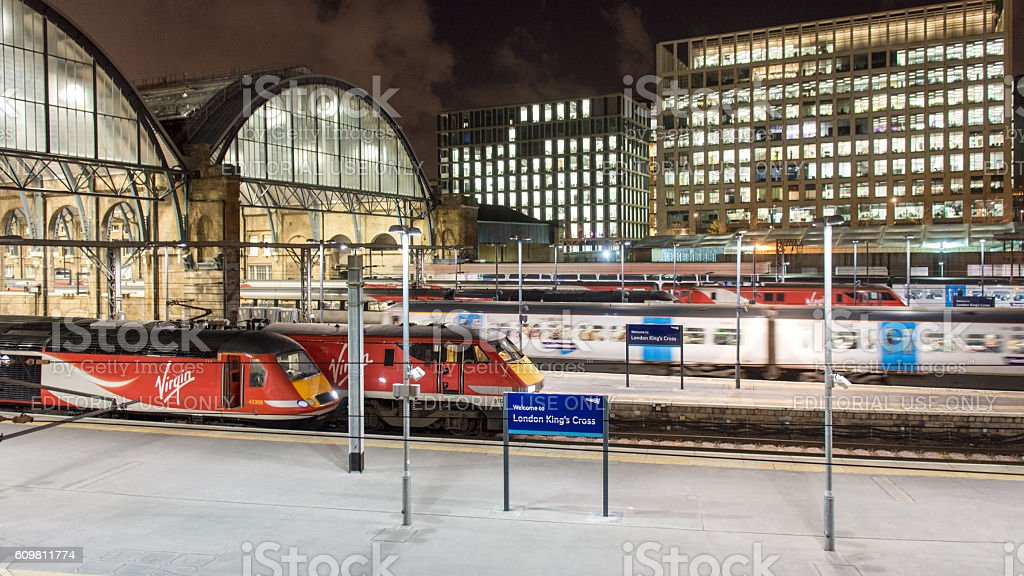 Virgin Trains East Coast at King's Cross stock photo
