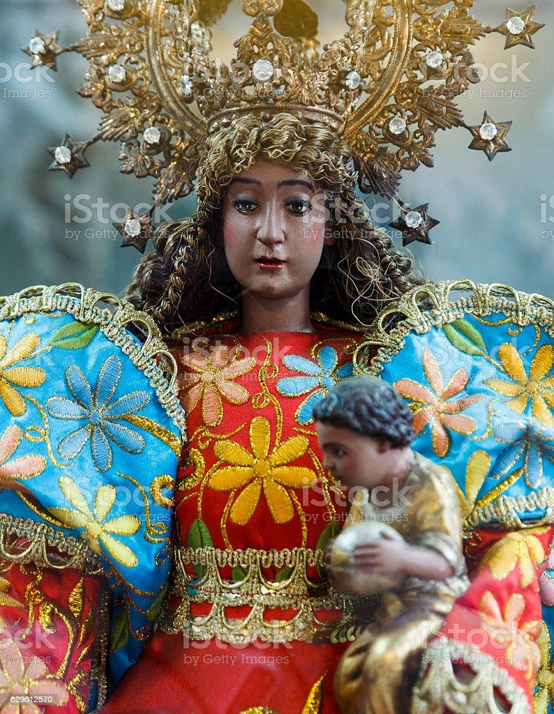 virgin-basilica minor of the holy child-cebu stock photo
