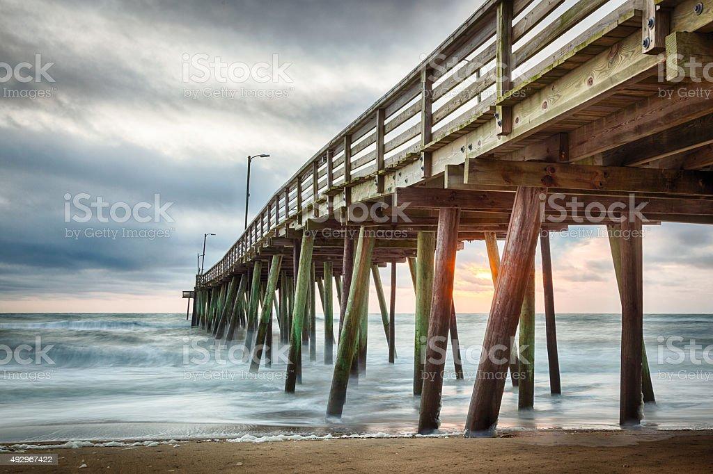 Virginia Beach Fishing Pier stock photo