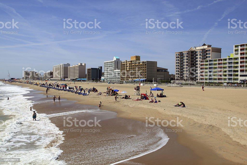 Virginia Beach Ocean Front stock photo
