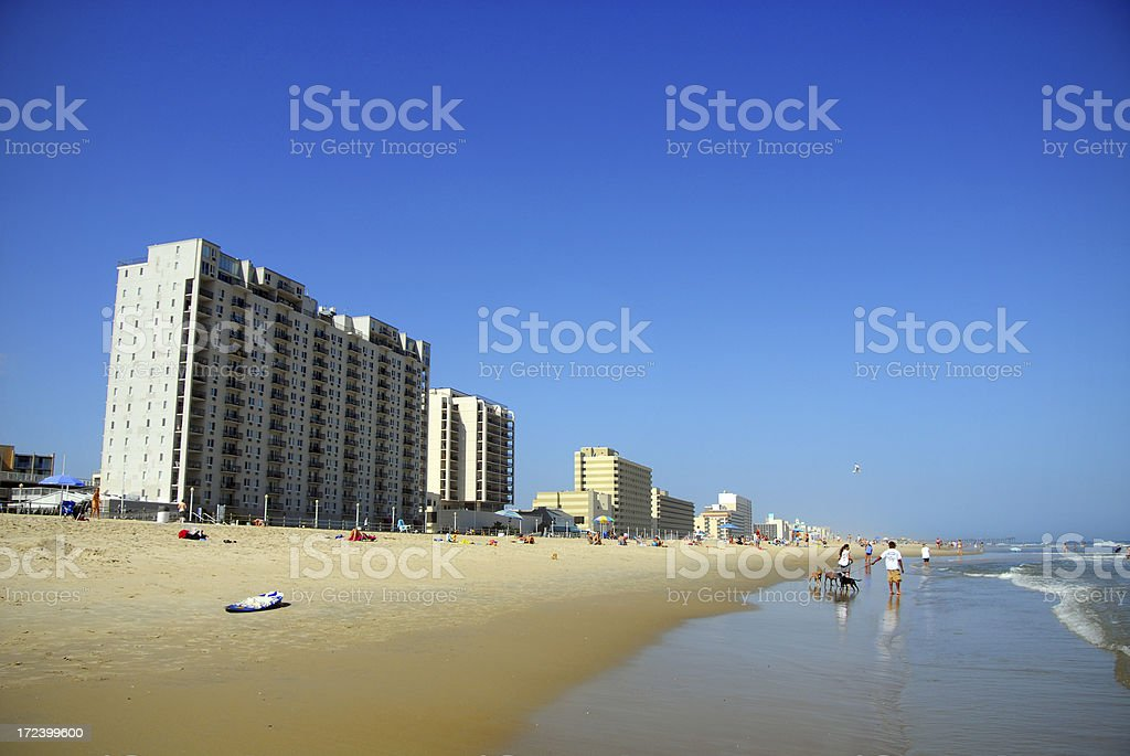 Virginia Beach Oceanfront royalty-free stock photo