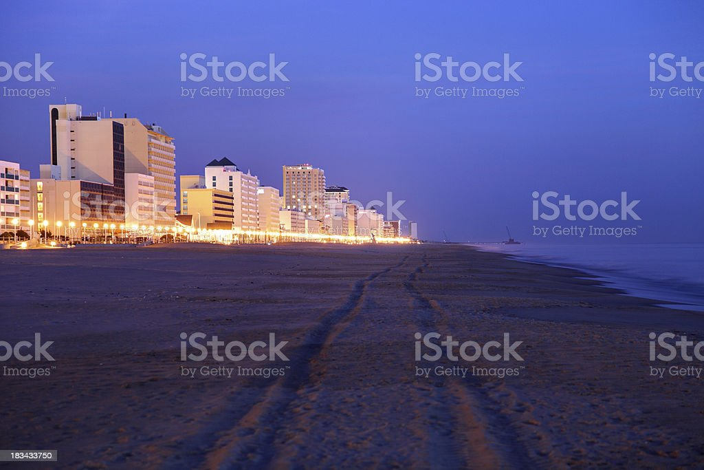 Virginia Beach Oceanfront stock photo