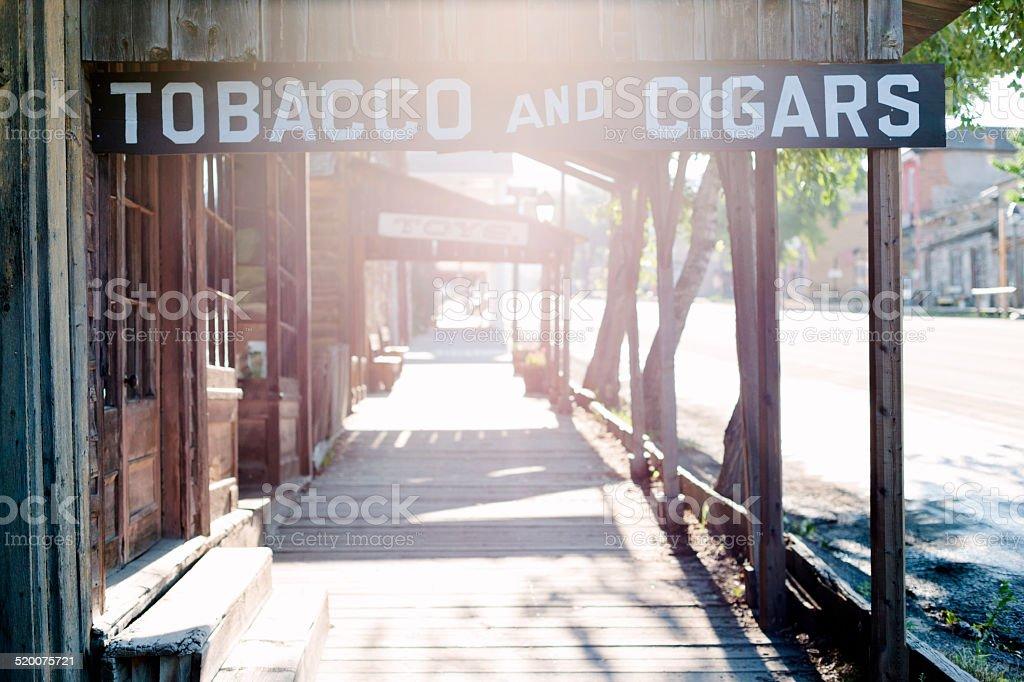 Virginia city, ghost town stock photo