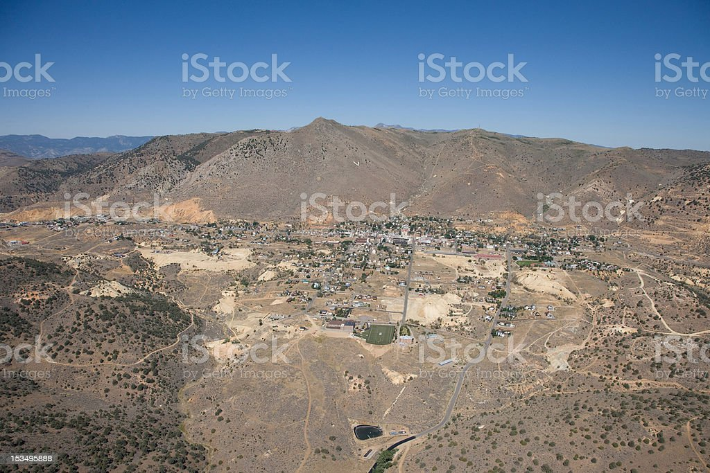 Virginia City Nevada Aerial stock photo