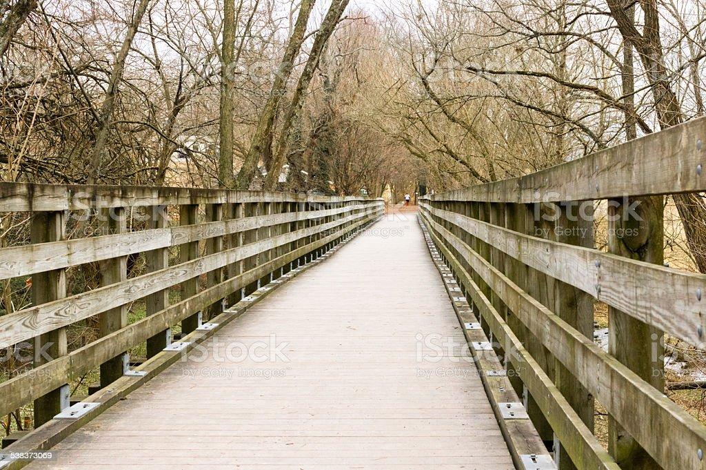 Virginia Creeper Trail Bridge and Boardwalk stock photo